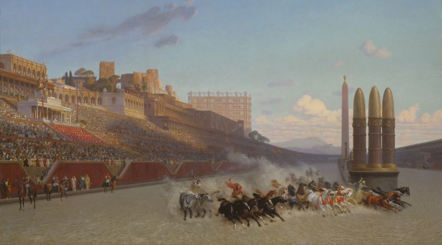 Jean Léon Gérôme – Chariot Race (1876) – Art Institute of Chicago