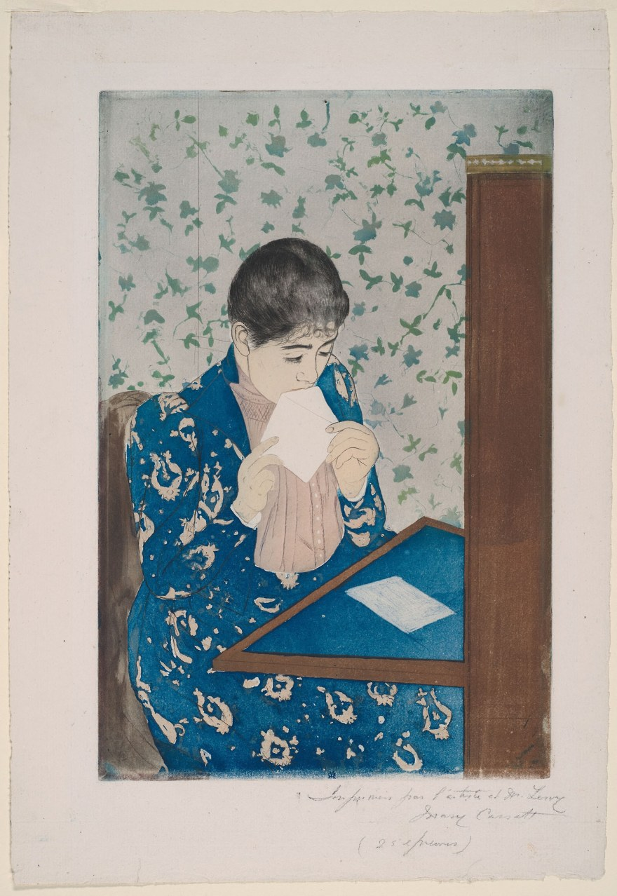 Mary Cassatt – The Letter (1890-91)- Art Institute of Chicago