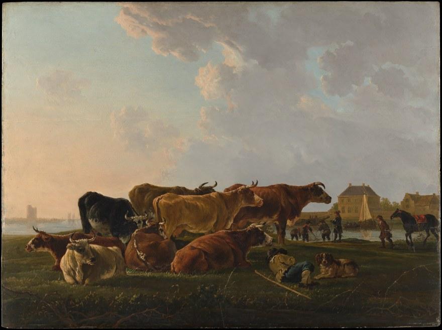 Agricoltura – Jacob van Strij – Landscape with cattle (1800) – MOMA