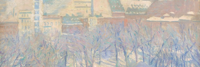 Ambiente – Allen Tucker – Madison Square, Snow (1904) – National gallery of art Washington