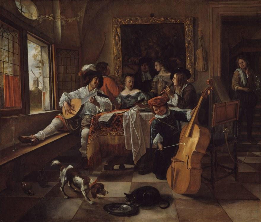 Arte e spettacolo – Jam Steen – The Family Concert (1666) – Art Institute of Chicago