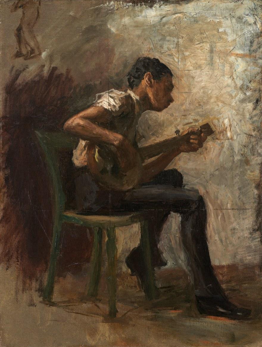 Arte e spettacolo – Thomas Eakins – The banjo player (1877) – National gallery of art Washington