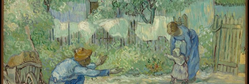 Famiglia – VIncent van Gogh – First steps, after Millet (1890) – MOMA