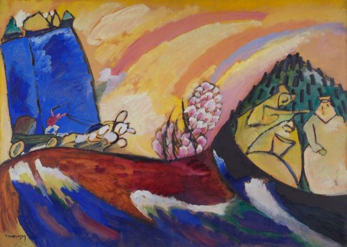 Infrastrutture – Vasily Kandinsky – Painting with Troika (1911) – Art Institute of Chicago