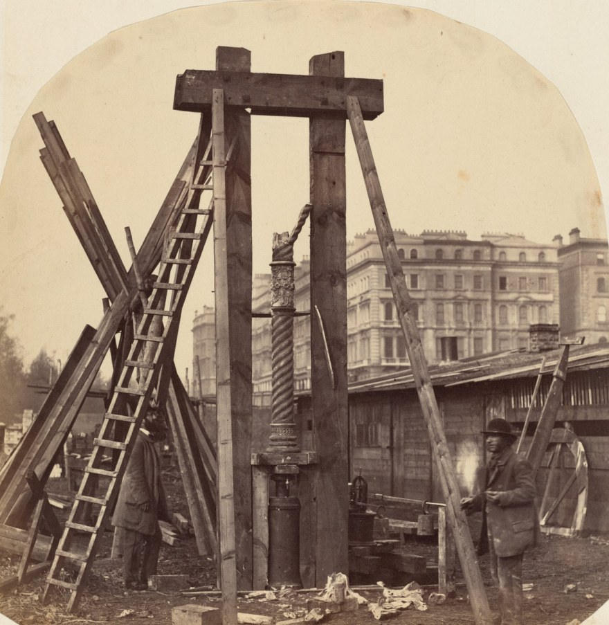 Lavoro – B.L. Spackman – Construction of the 1862 International Exhibition at South Kensington (1862) – National gallery of art Washington