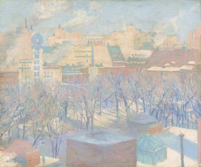 Ambiente – Allen Tucker – Madison Square, Snow (1904) – National gallery of art Washington